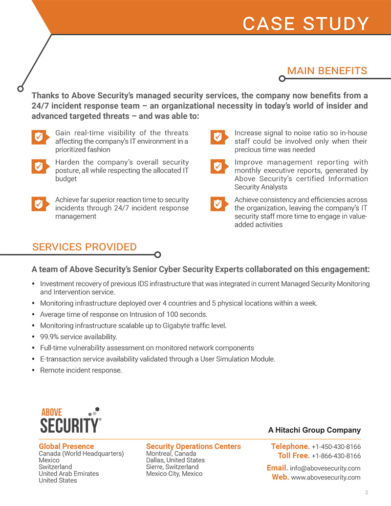 security company case study Computer security case study - confide your essay to professional writers working in the company witness the benefits of expert writing help available here if you need to find out how to make a great research paper, you need to read this.