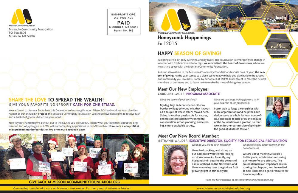 Newsletter Brochure Design, page 1