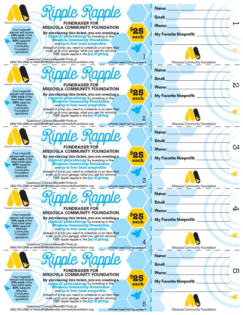Raffle Ticket Design, Front