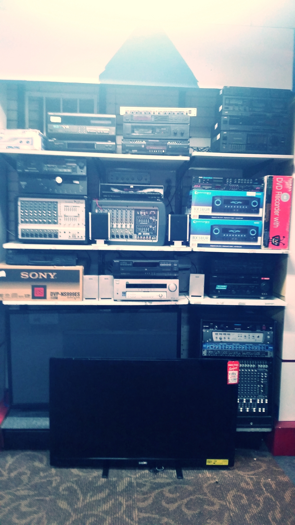 We are a one stop shop for audio equipment. Everything ranging from receivers and speakers, to a full studio set-up