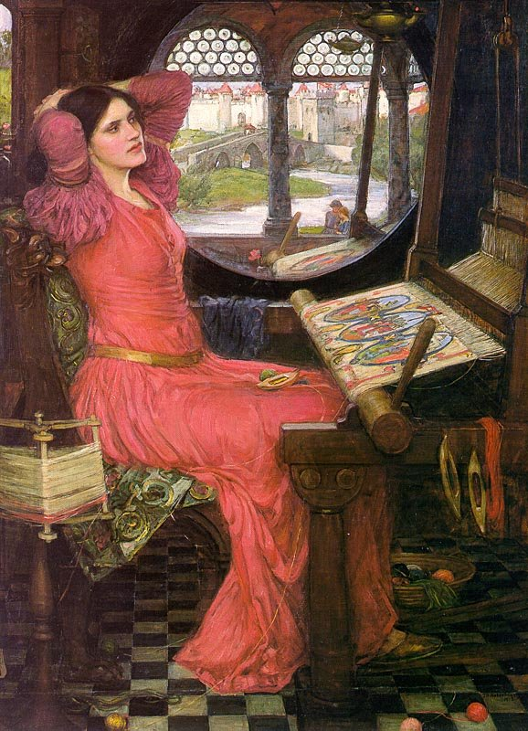 "John William Waterhouse, The Lady of Shallott, ""I Am Half-Sick of Shadows,"" 1916"