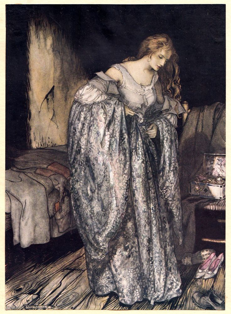 "Arthur Rackham, ""The True Sweetheart"" (1917)"