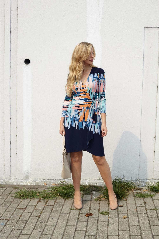Dress: BCBGMaxazria | Bag: TopShop | Shoes: J Crew