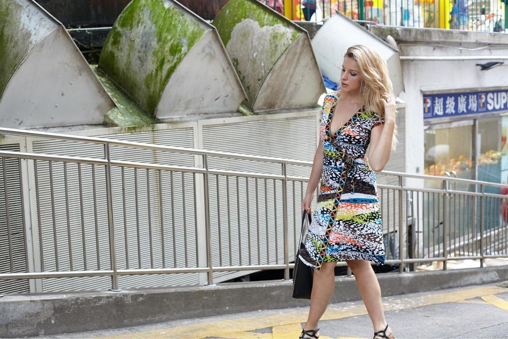 Dress: BCBGMaxazria | Bag: Steve Madden | Shoes: Similar