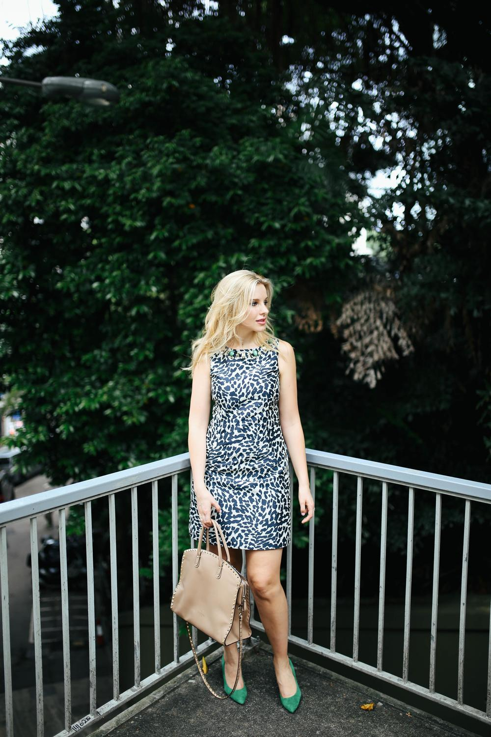 Dress: Eliza J | Bag: Valentino | Shoes: Nine West | Photos: Bryant Lee