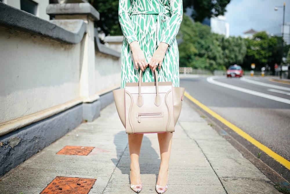 Dress: DVF New Jeanne | Shoes: Stuart Weitzman | Bag: Celine | Photos: Bryantlives