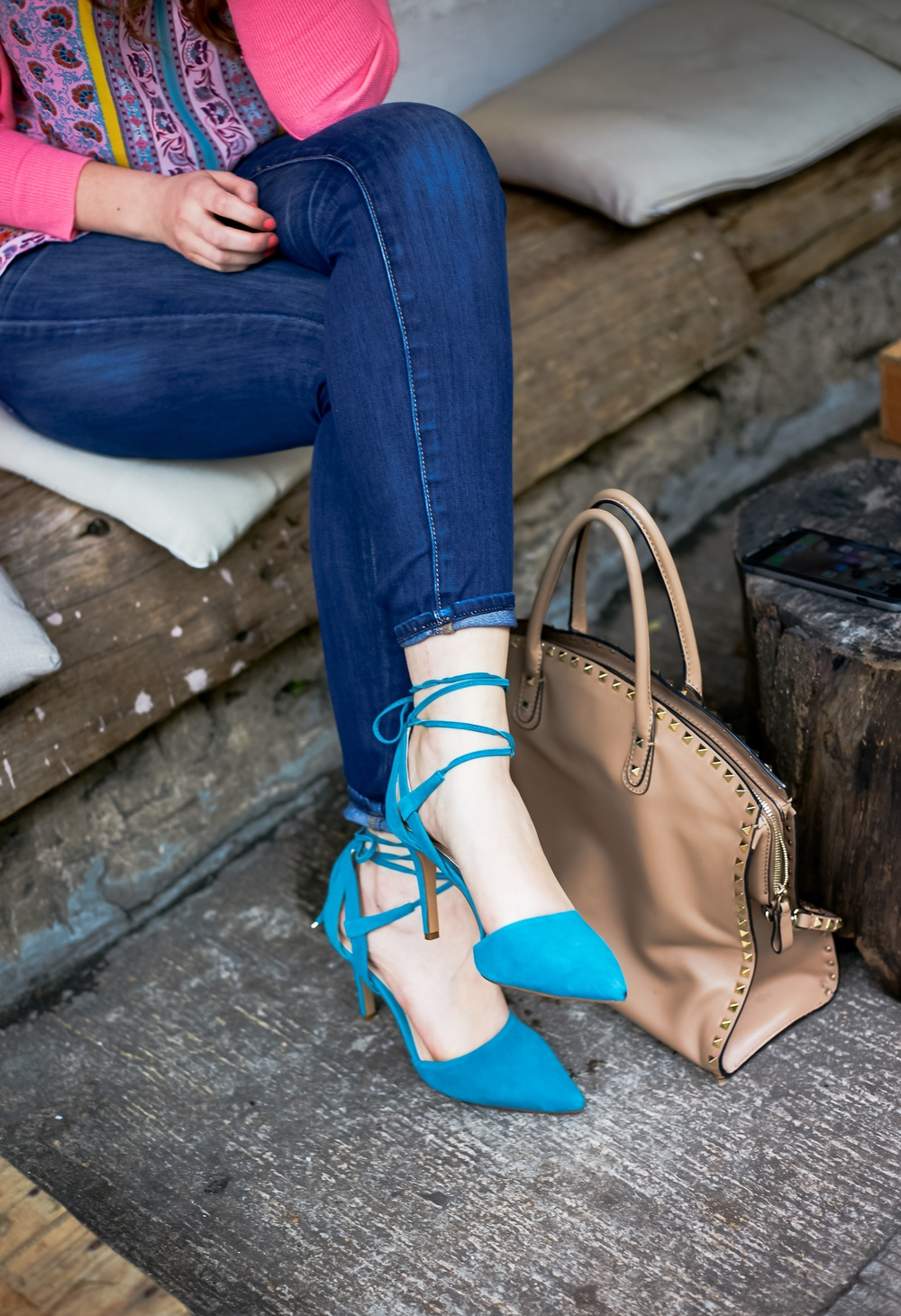 Turquoise Lace Up Heels Valentino Rockstud Dome Satchel