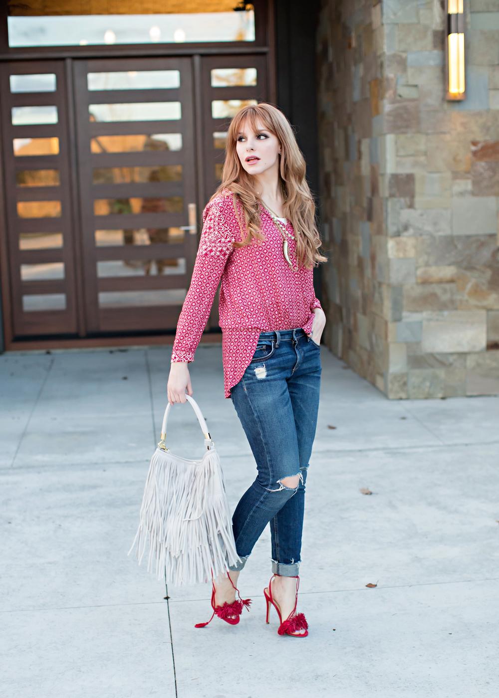redhead fashion ootd Ivanka Trump Heels