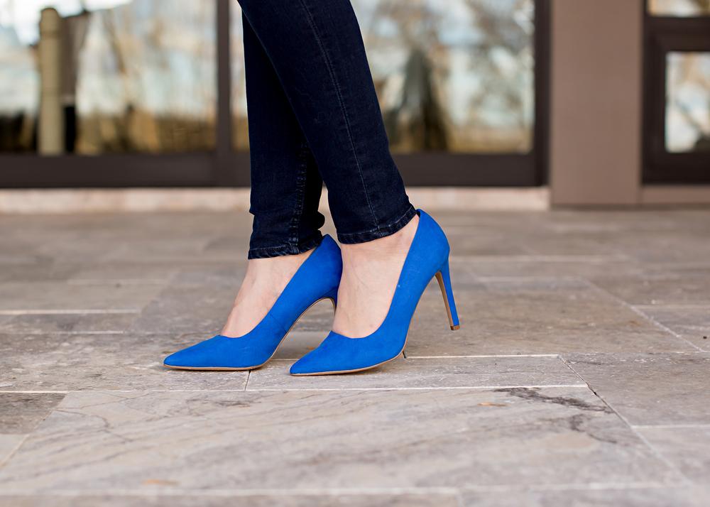 cobalt blue high heels