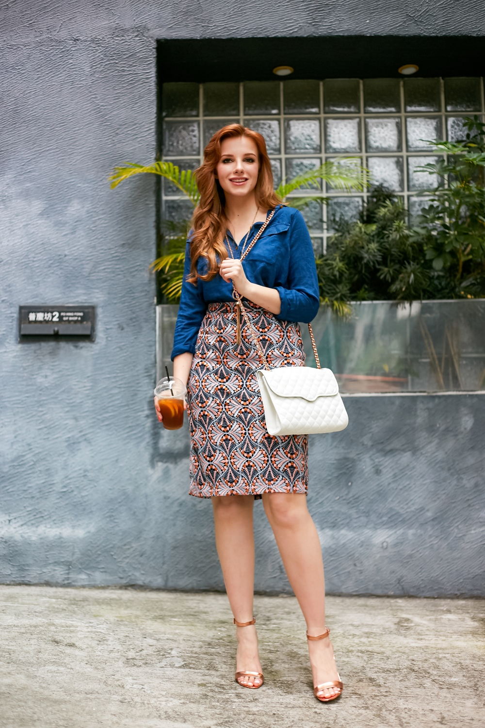 redhead fashion anthropologie skirt