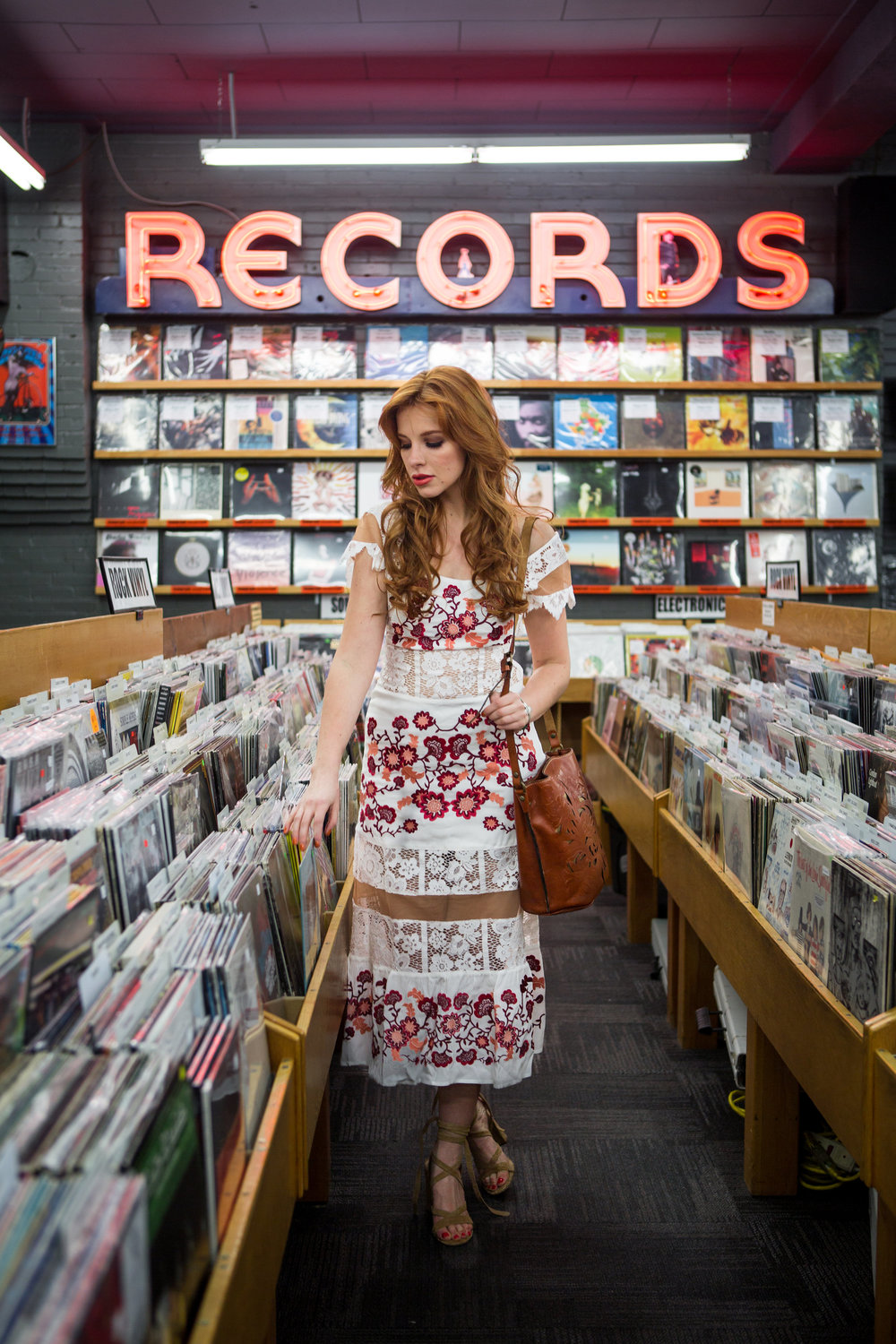 Redhead shopping for records