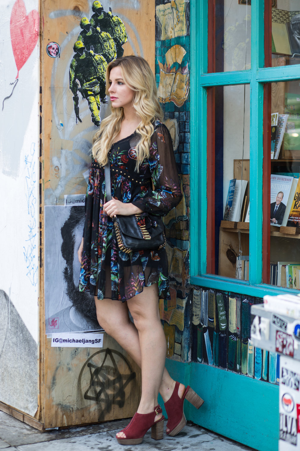 black floral anthropologie dress
