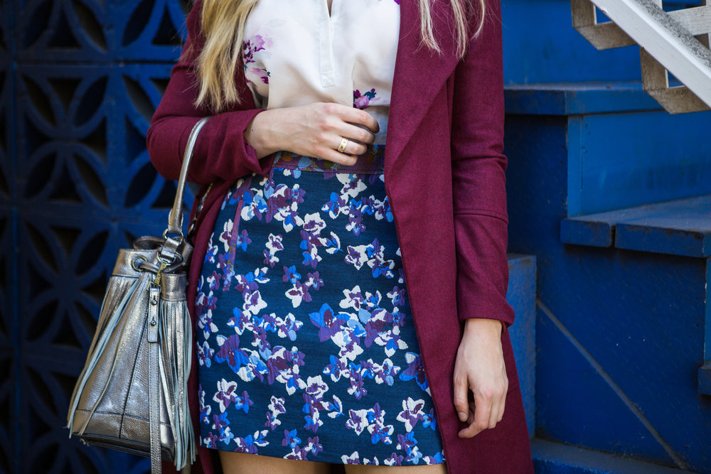 Floral Skirt and Top