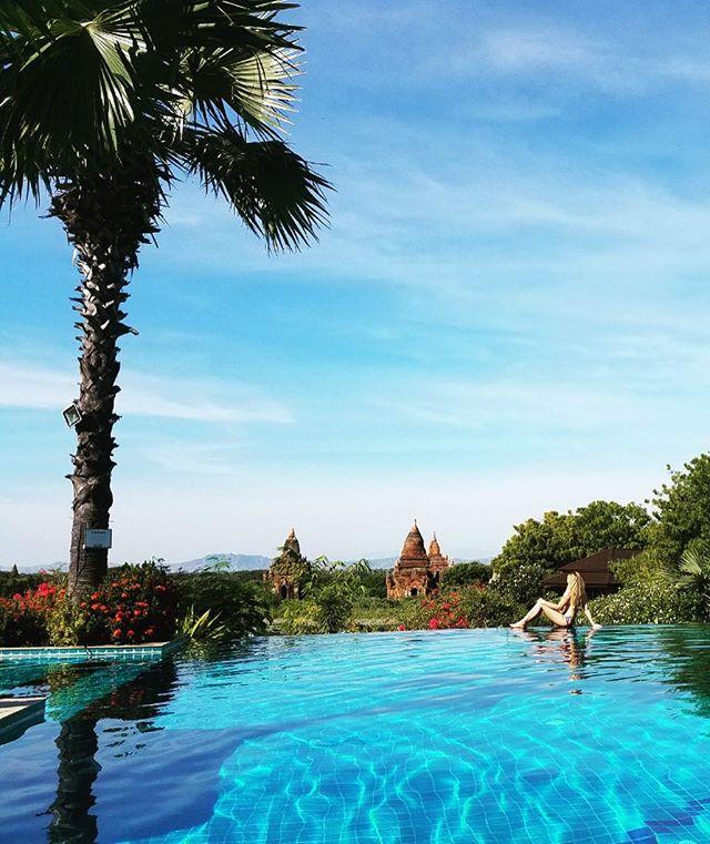 Best seat in Bagan ☀️🌴👙🗺 #tbt #discovermyanmar