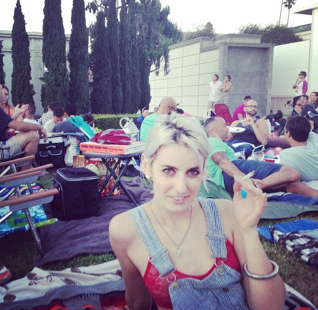 At Cinespia in the Hollywood Forever Cemetery, Summer 2014 with my Ritual Smoking Blend