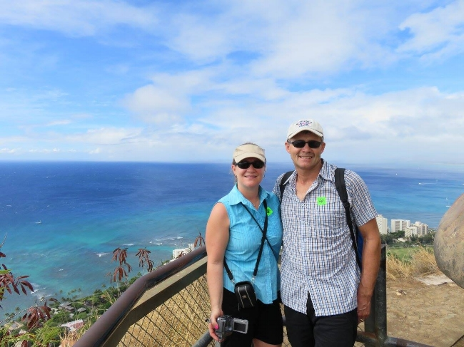 Oahu - Diamond Head State Monument - we made it!.jpg