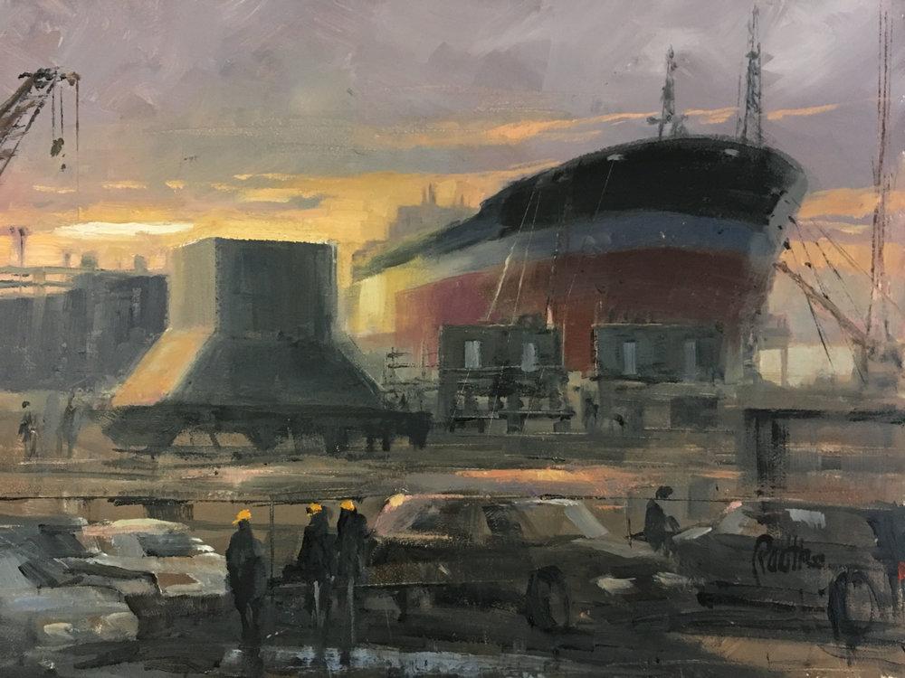 "Tanker Barge ""1964"" 1  12 x 16"