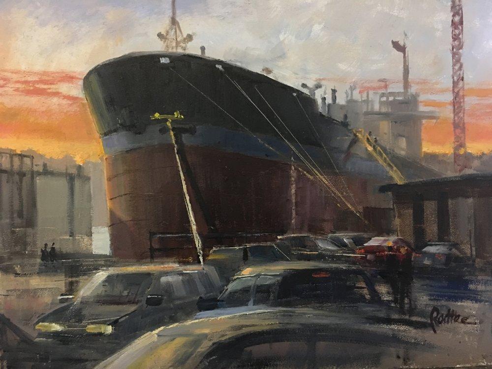 "Tanker Barge ""1964"" 2 12 x 16"