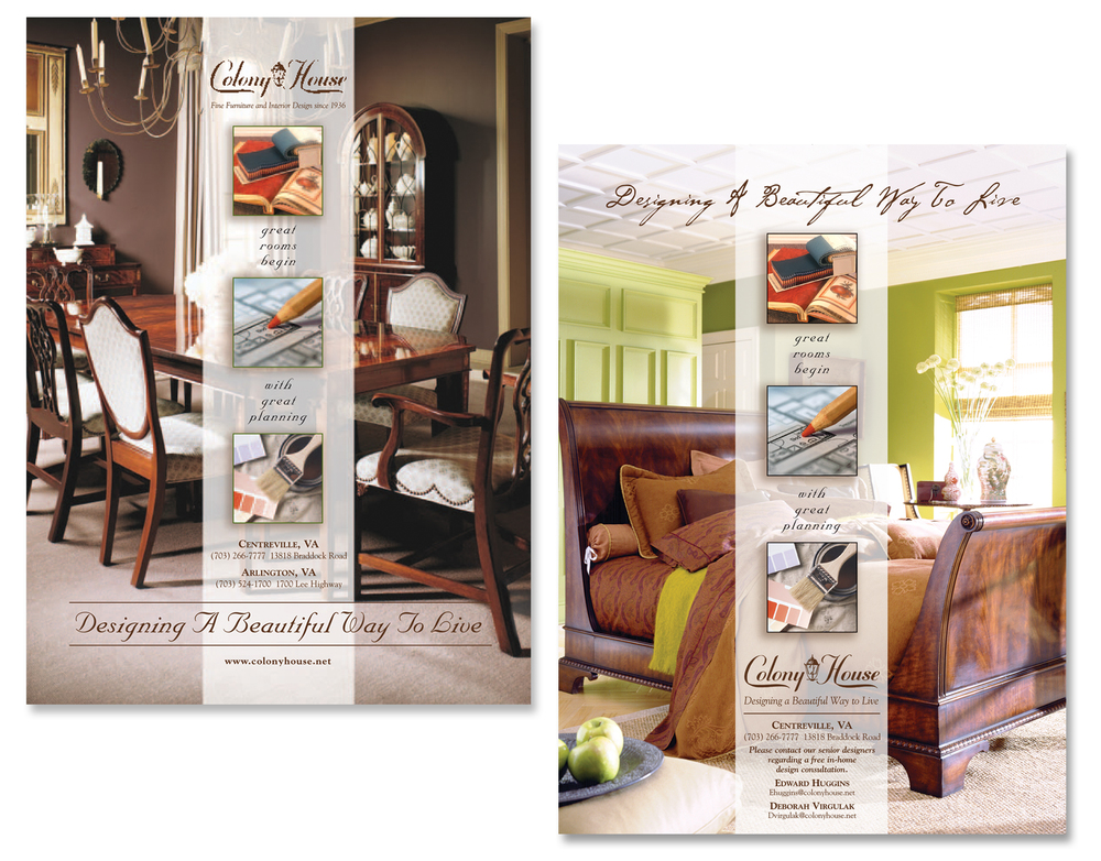 Colony House Furniture Advertising Campaign