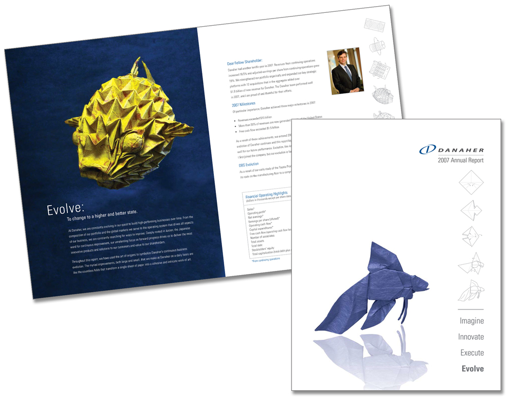 "Danaher Corporation ""Origami"" Annual Report"