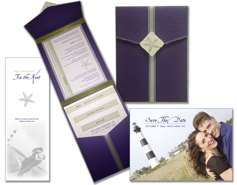 Eric Olson & Cathy Broadwell Wedding Invite & Materials
