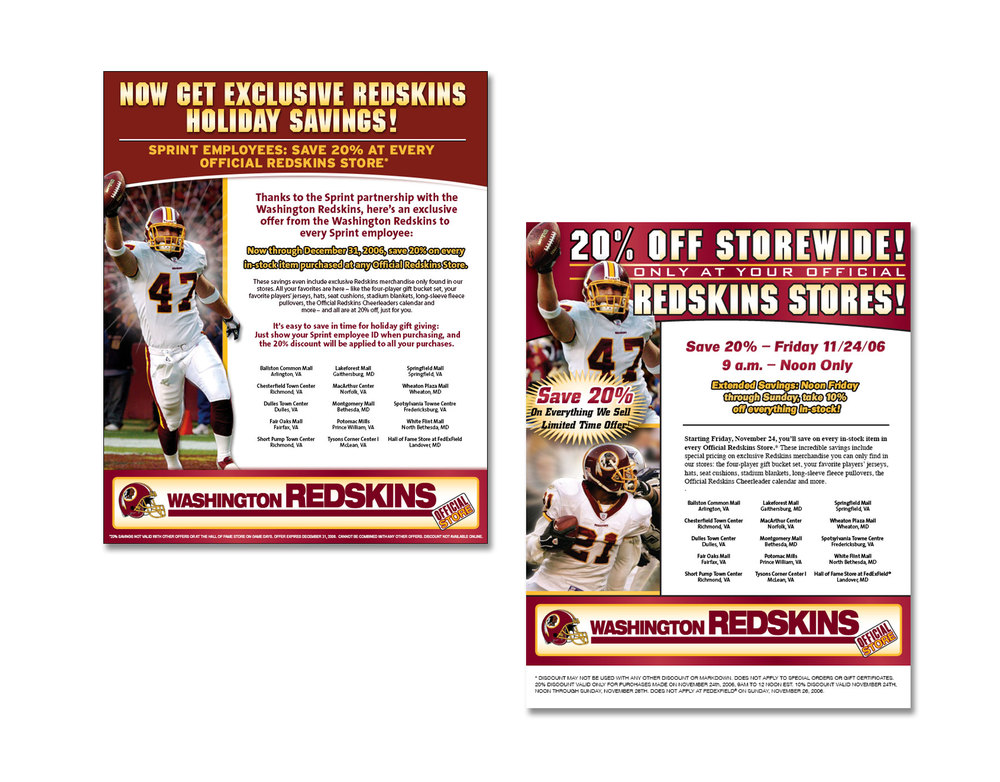 Washington Redskins Email Campaigns