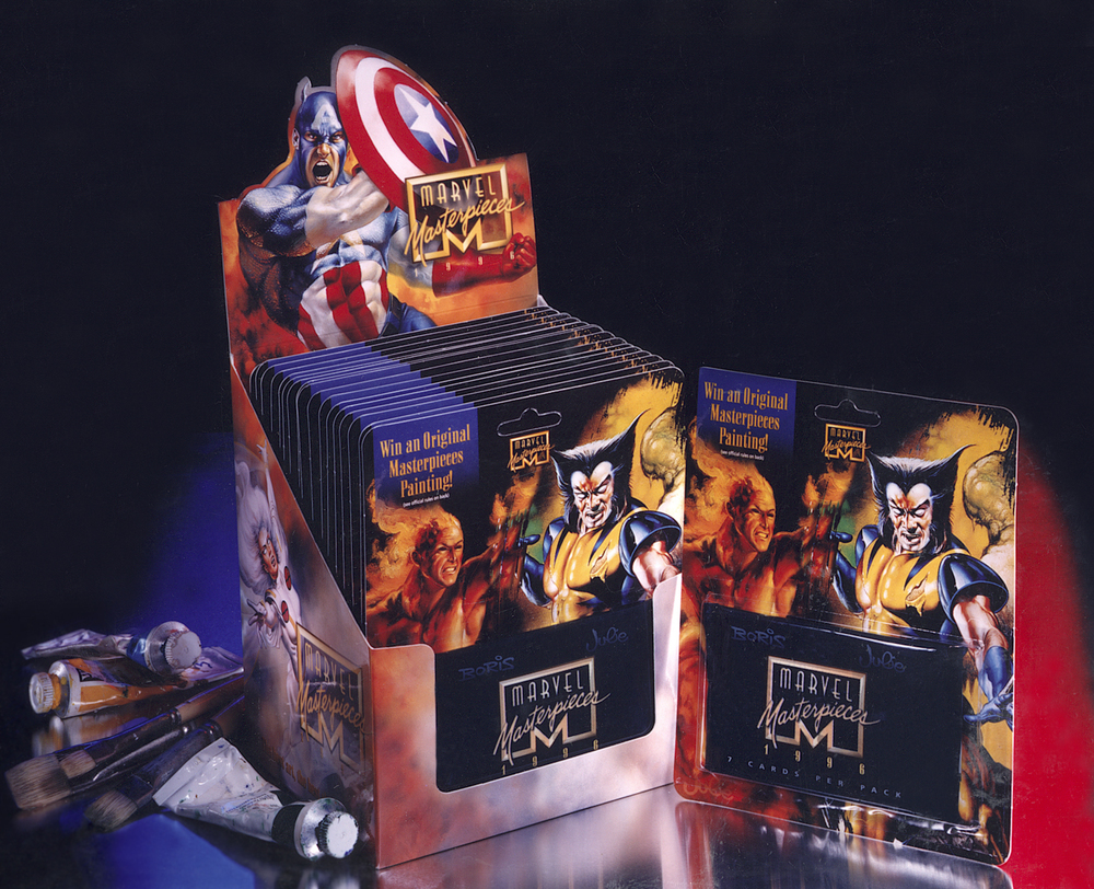 Marvel Comics' Marvel Masterpiece Card Set & Box Design