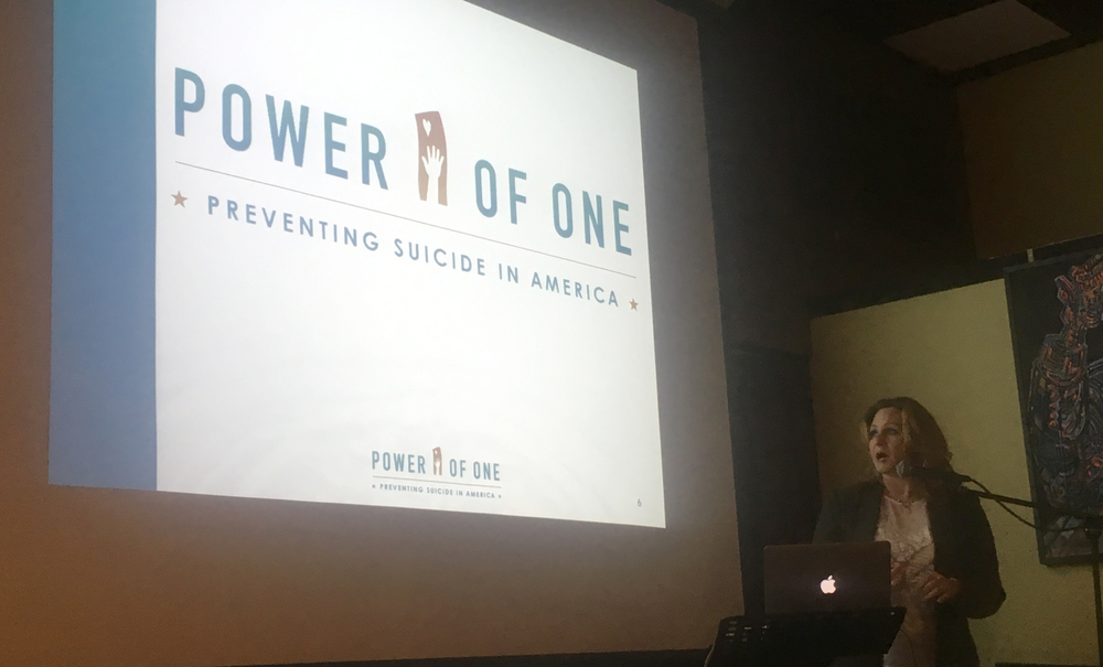 "Alivia Tagliaferri giving her presentation in support of her upcoming movie ""Power Of One"", and reducing the stigma around depression and suicide."