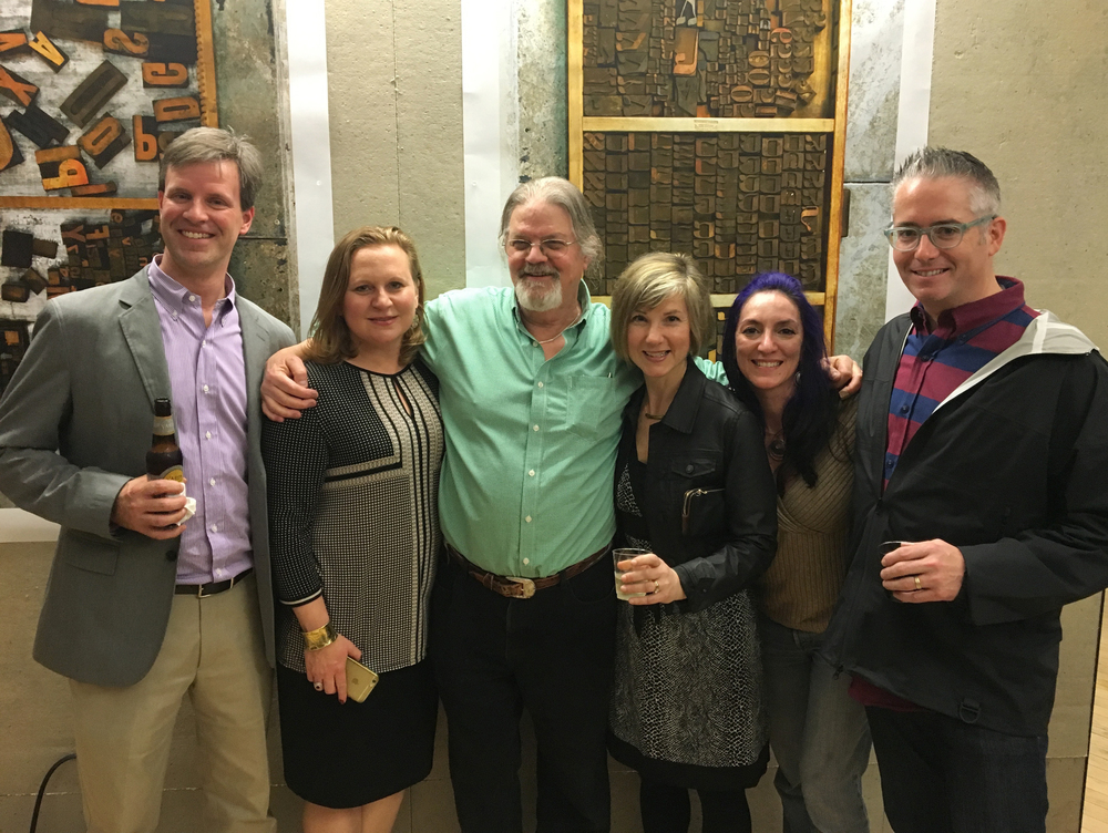 From left to right: Drew Fader, Marita Podder Gray, John Langdon, Kerry Fader, myself (Cathy Broadwell), Mike Welsh – Class of '92, Graphic Design Program, Drexel University. SO GREAT to catch up with all of you cool cats! I'm thrilled that you attended!