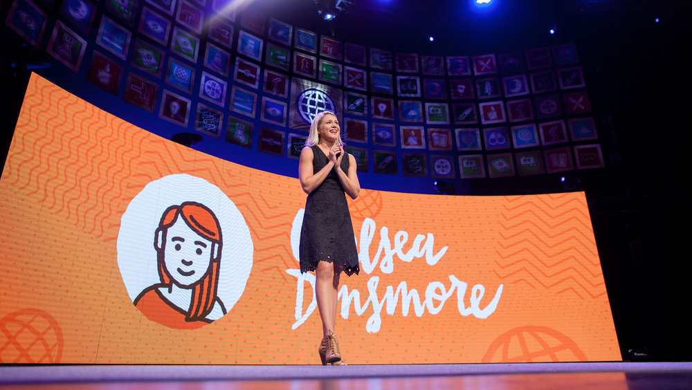 Chelsea Dinsmore of Live Your Legend delivers a powerful and moving presentation, touching on her dearly missed husband Scott and so much more! What an inspiration! Photo credit: Armosa Studios