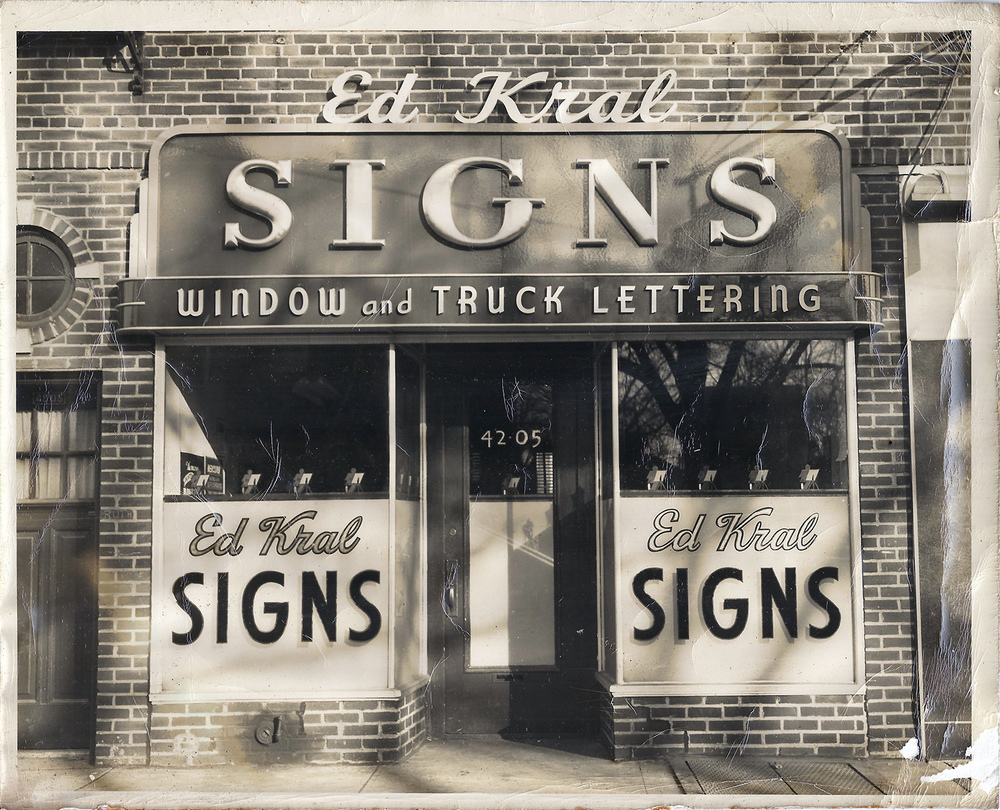 The old Ed Kral storefront, located on the east side of 162nd Street
