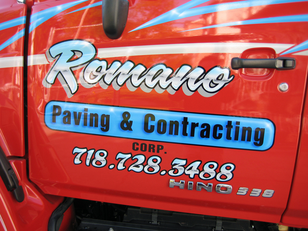 Romano Paving & Contracting Hino 338 Extended Cab