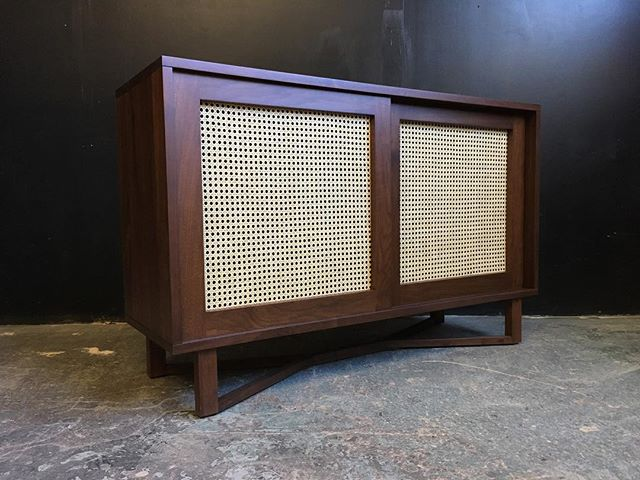 Sent this cutie out the other day! Had a lot of fun working with rattan/cane.  Keep your eyes peeled for some new designs 😎. . . . . . #sideboard  #mediaunit #cradenza #architecture  #midmod #furniture #modern #interiordesign #interior #toronto #dresser #highboy #walnut #teak #guelph #mcm #midcenturymodern #midcenturymodernfurniture #retro #minimalism #twotone #minimalist #design #ontario #toronto #recordplayer #vinyl