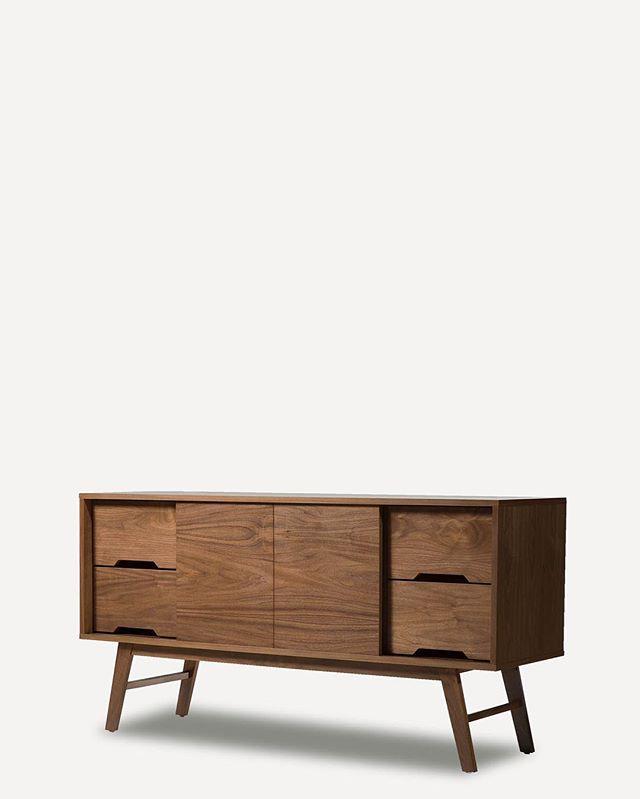 One of our original designs ❤️ still a classic ❤️ . . . #walnut #walnutcradenza #sideboard #midcentury #midcenturymodern #bohostyle #modern #teak #danishdesign #1960s #livingroom #diningroom #interiordesign #interiordecorating #moderndesign