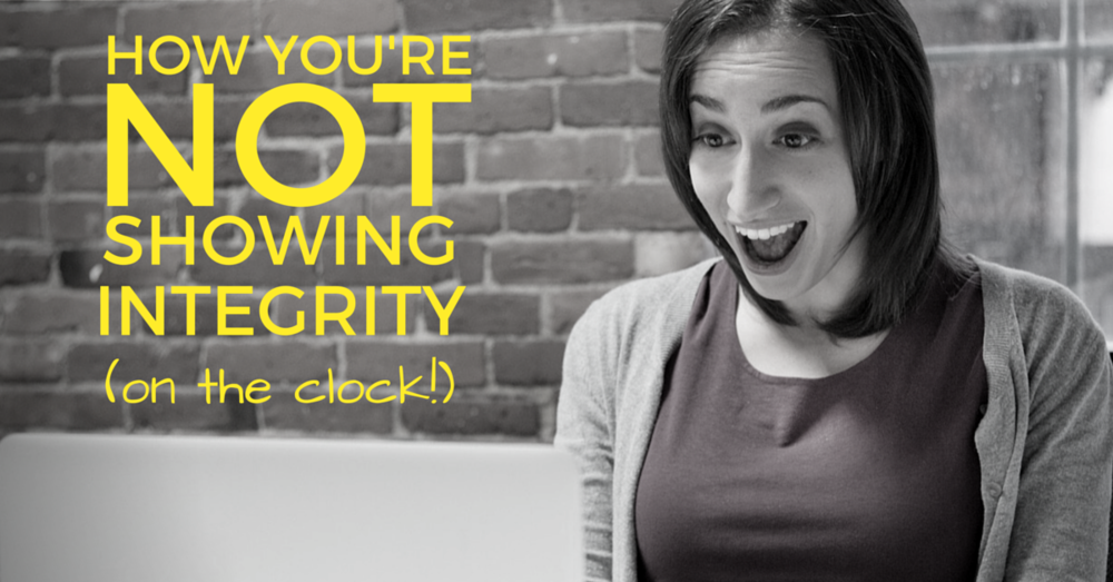 HOW YOU'RE NOT SHOWING INTEGRITY ON THE CLOCK | OFF THE CLOCK RESUMES