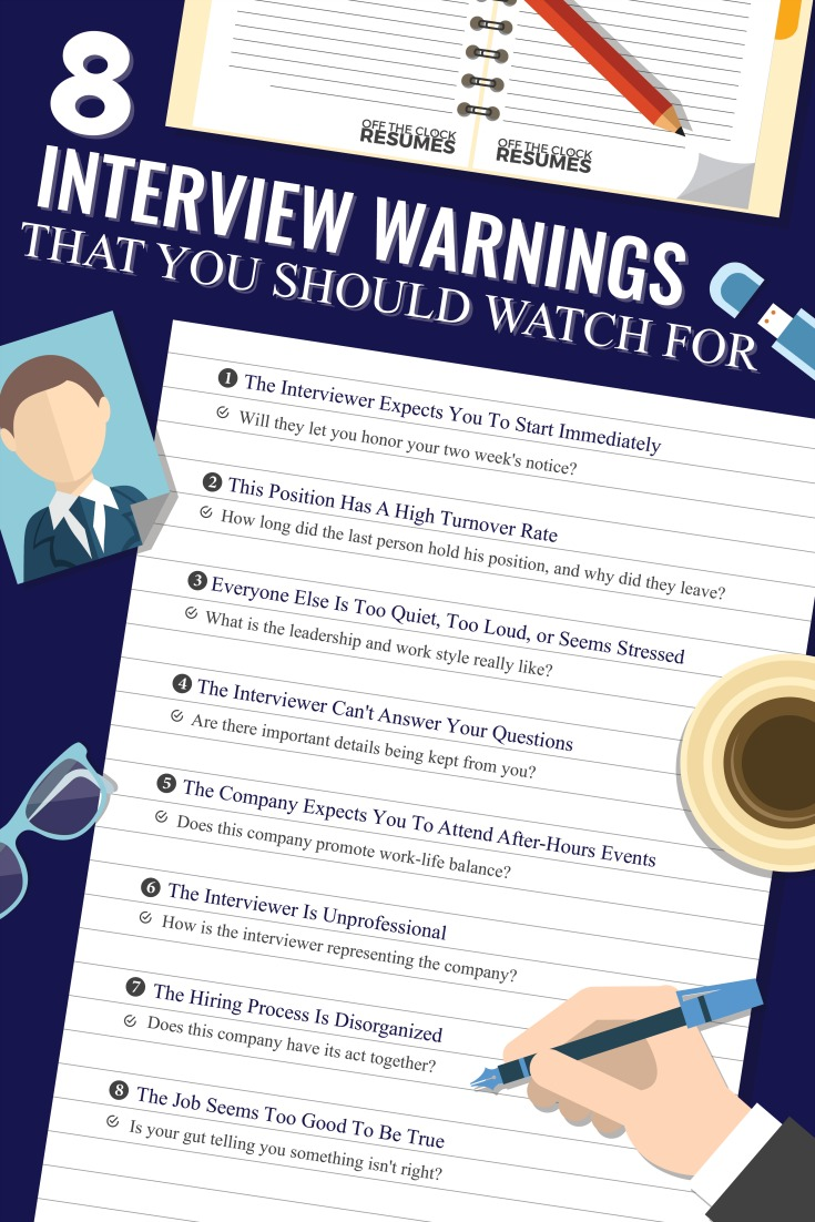 8 Interview Warnings That You Should Watch For | Off The Clock Resumes