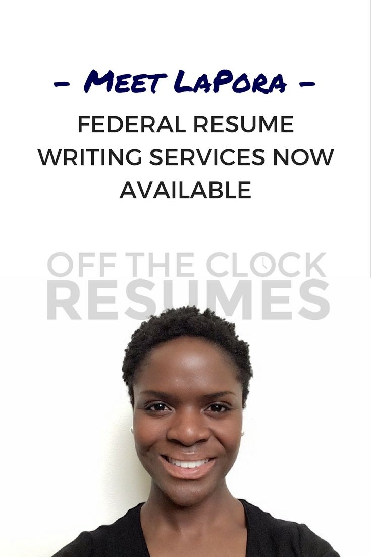 Meet LaPora, our new Federal Resume Specialist