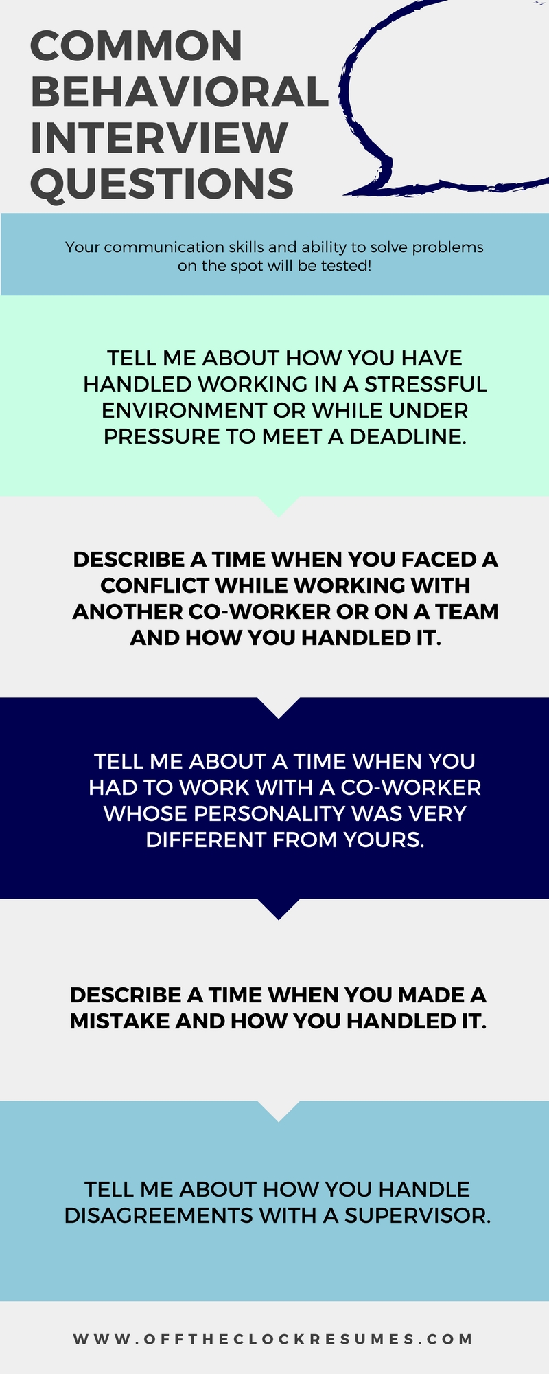 Best Answers To Common Behavioral Interview Questions | Off The Clock Resumes