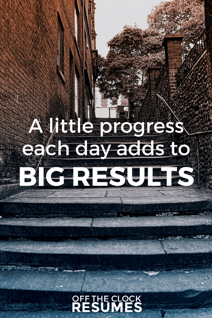 A little progress each day adds to big results. | Motivational Quotes