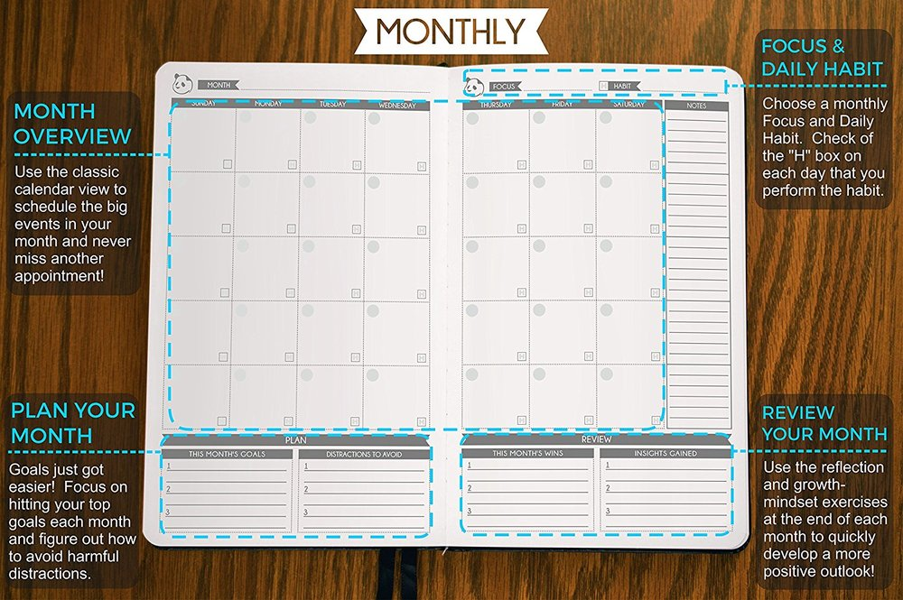 Panda Planner - Monthly Planner