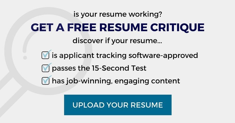 free resume critique from a certified professional resume writer