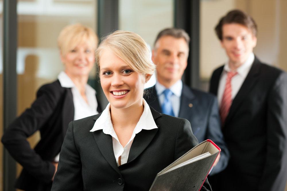 Business - Team in einem Bro