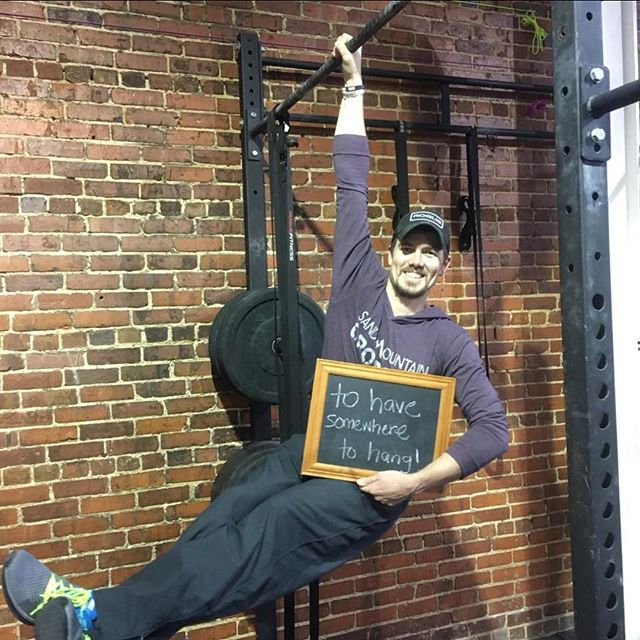 """#whyiCrossFit  Jeremy Rogers """"I started CrossFit in 2013. My sister called and said, """"you need to try CrossFit; High intensity workouts with lots of great people cheering you on to the finish."""" She was right, I loved it! I did lots of research on CrossFit and saw all the great things that they were doing. CrossFit workouts can be scaled or modified to any level and gyms across the country have had success with individuals with debilitating illnesses to disabled veterans improving their activities and every day life. That's when I started thinking I wanna be a CrossFit coach so I can help people reach their own goals. Whether those goals are to feel better every day or trying to be an elite athlete. CrossFit is for EVERYONE! It's about helping others push themselves to reach their own goals that keeps pushing me to be better too. The friendships that have turned into feeling more like an extended family are just another reason I keep coming back for more."""" #CrossFit  #SandMountainCrossFit"""