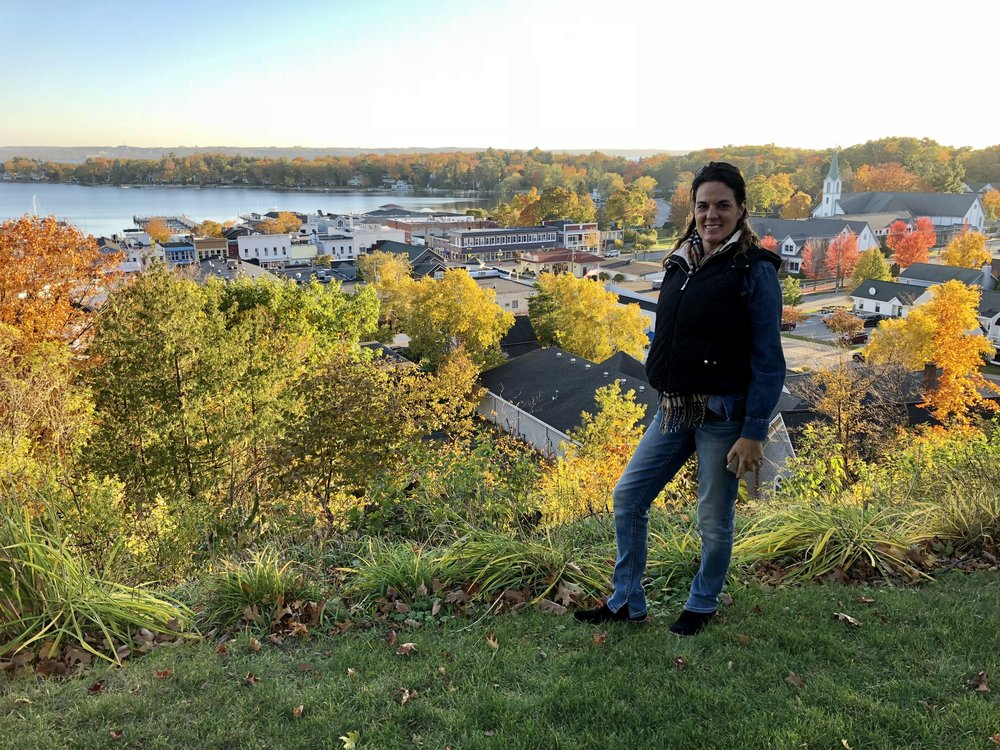A lovely view of Harbor Springs, where Steve's great grandparents ran an inn a century earlier.