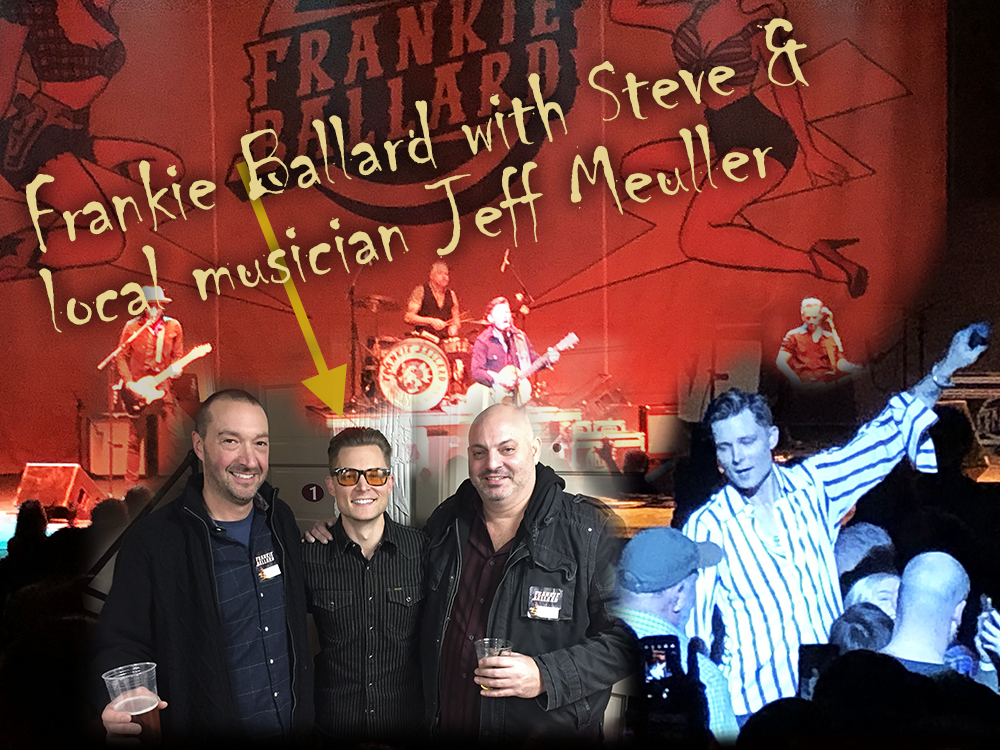 Steve with Frankie Ballard with Frankie's former coach and local musician, Jeff Meuller