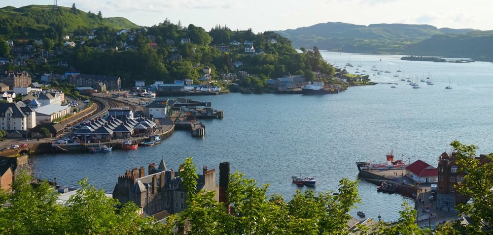 Oban view from McCaig's Tower