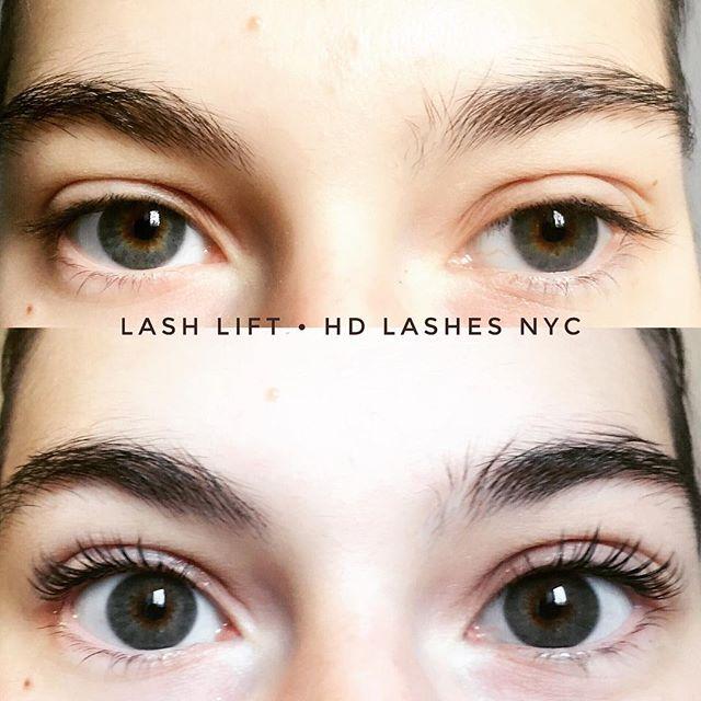 Lash Lift before and after 😊 Happy holidays everyone! #lashlift #beautynyc #lashliftnyc #keratintreatment #keratinlift