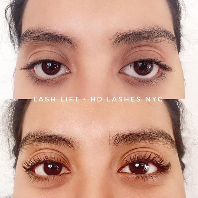 Lash Lift before and after! Her smile made me smile 😊 thank you! #nycbeauty #happyholidays #holidaymakeup #keratinlashlift #lashlift #lashliftnyc #hdlashesnyc #nyc #beauty