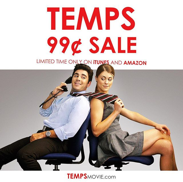 """TEMPS!! Now on Sale! $.99 rental at iTunes and Amazon - Limited time only. Rent now...watch later. """"Lindsey Shaw emerges as a funny, sexy comedienne"""" - Hollywood Reporter"""""""