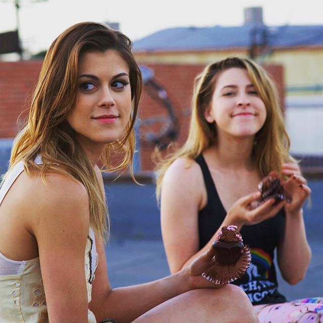 🔥Only 48 hours left on the iTunes $.99 Sale!! 🔥Rent now, while it's on sale, watch when you want in the next 30 days!! Lindsey Shaw and Eden Sher eat cake on set of Temps.